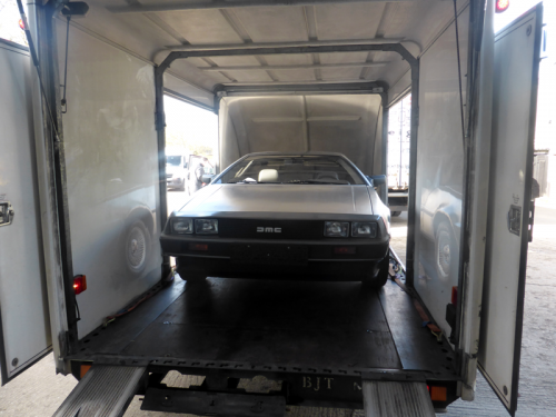 Delorean transported to car storage