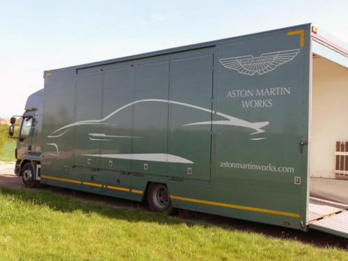 Aston Martins arriving for storage