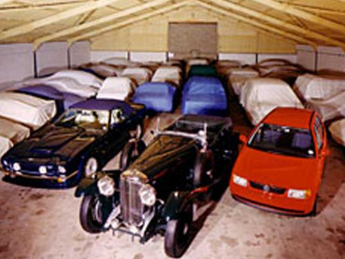 Classic and Vintage cars in storage