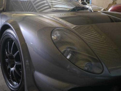 exclusive sports car in storage